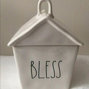 Rae Dunn BLESS House Canister and Display